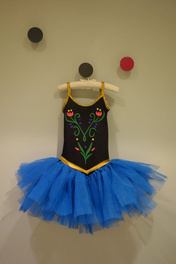 Anna Frozen Dress Costume Tutu. Disfraz de Anna by ZoeParties, €40.00