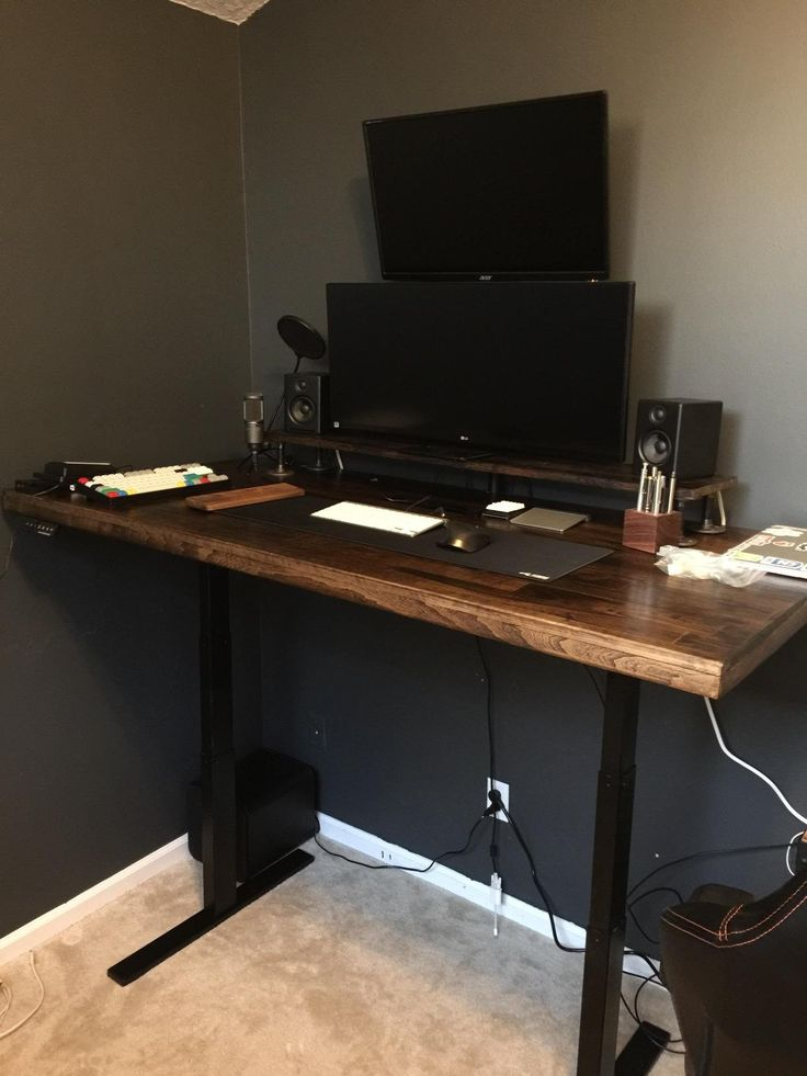 awesome sit stand desk option amazing desk love that it can fit a variety of