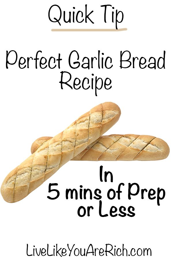 Quick Garlic Bread Recipe That Isn't Too Buttery or Garlicky- Easy In 5 mins of Prep or Less. #LiveLikeYouAreRich