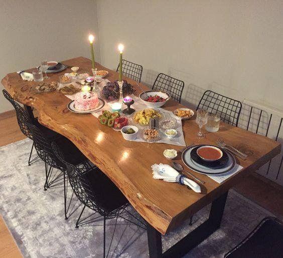 ceviz yemek masası