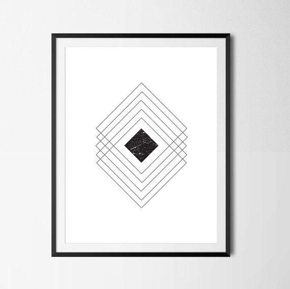 Geometric Wall Art Minimalist Art Geometric by PaperLoveGraphics