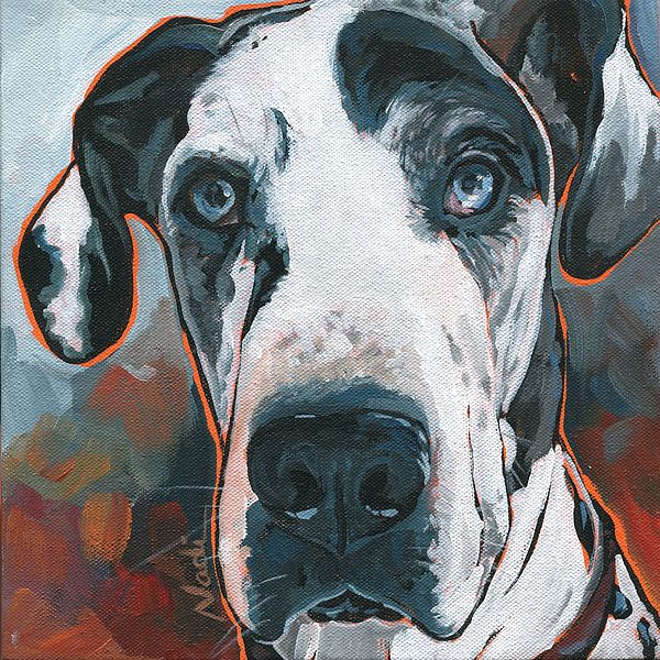 Diezel By Nadi Spencer In 2019 Dog Paintings Dog Portraits