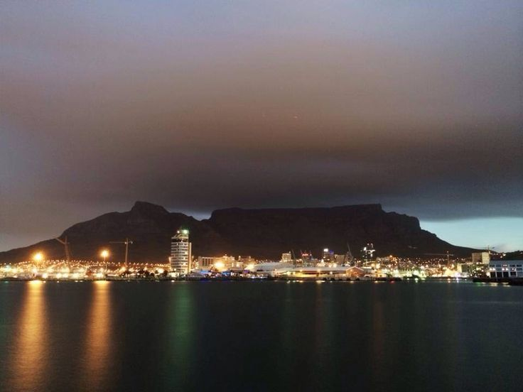 Winter storm over Cape Town