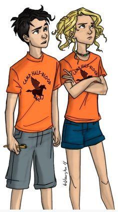 Annabeth Chase e Percy Jackson,provavelmente em O Ladrão de Raios  Qual era a dificuldade do filme ter escalado atores dessa idade?Me digam