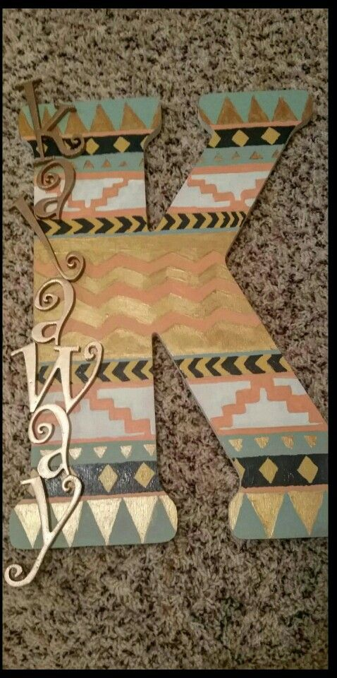 Aztec letter for kals room