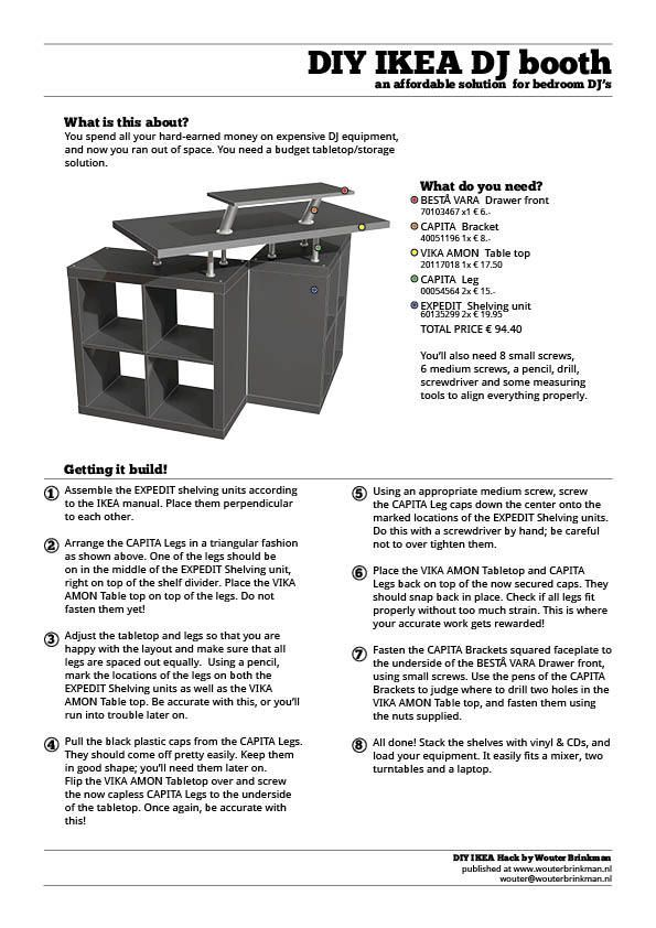 DIY IKEA DJ Booth on Behance