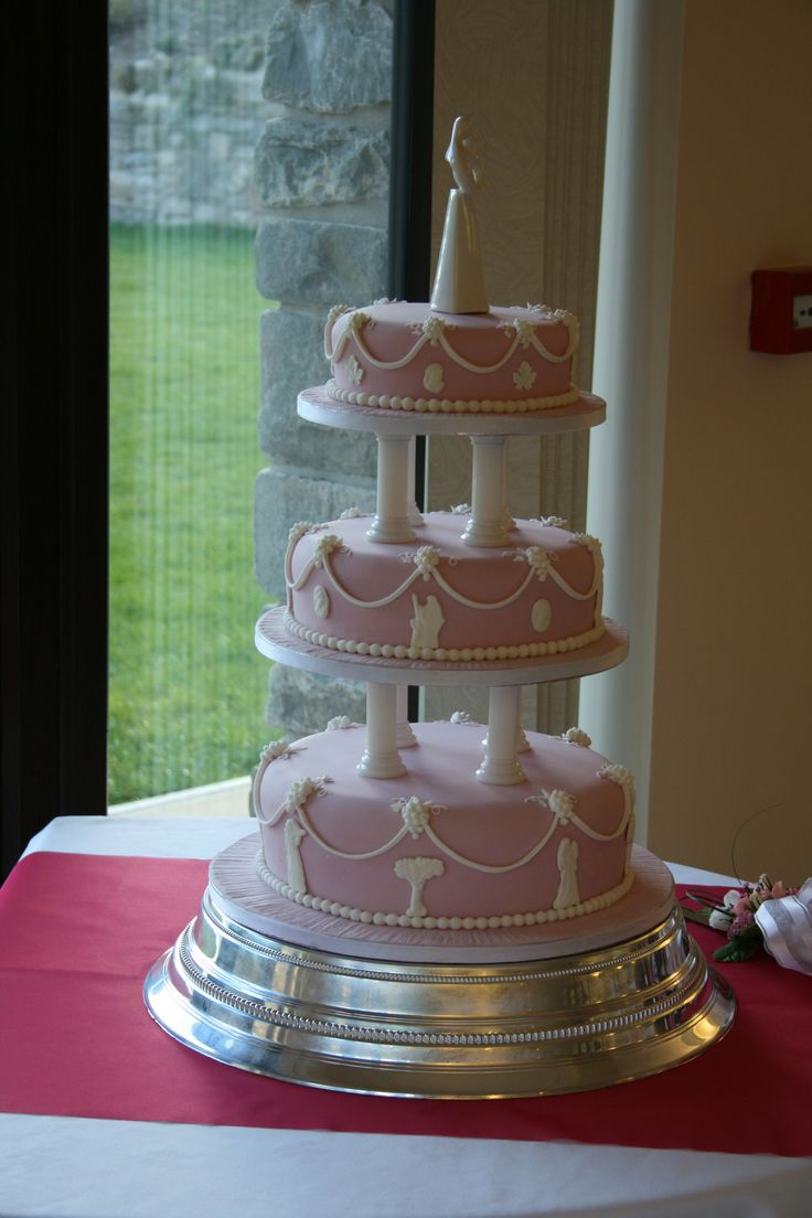 Pink Wedgwood Wedding Cake