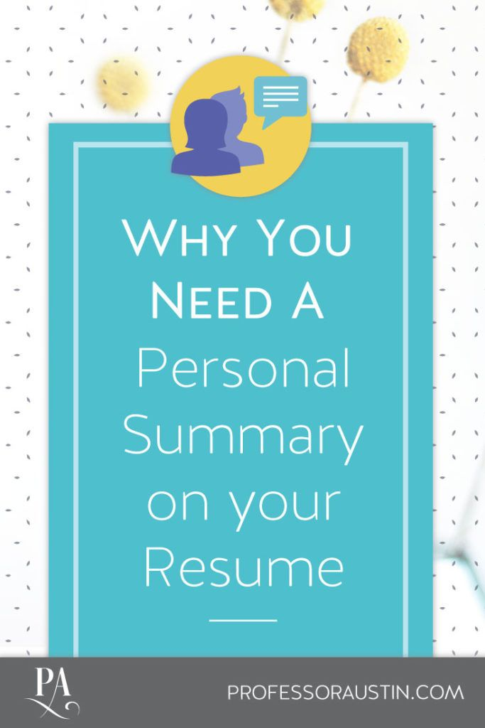 Resume Writing Tips - Personal Summary on Resume Resume Writing - resume personal summary