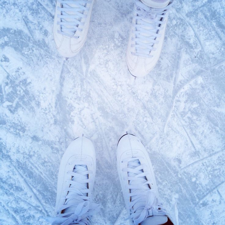 Ice skating for the first time this year