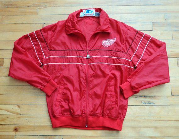Vintage Detroit Red Wings Large Starter Windbreaker, $28.99