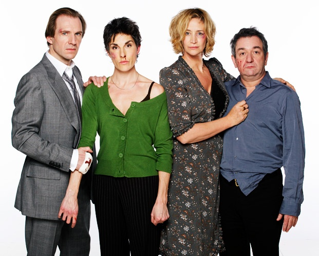 Ralph Fiennes, Tamsin Grieg, Janet McTeer and Ken Stott - Photo by Simon Turtle - West End Production.