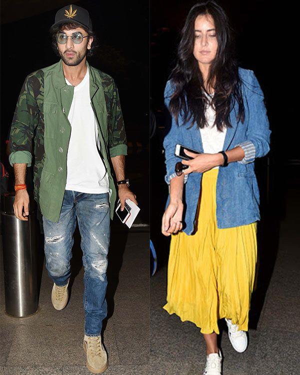 Ranbir Kapoor and Katrina Kaif spotted at the airport – view HQ pics #FansnStars