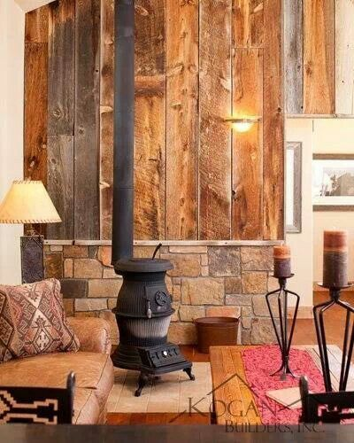 Stone wall behind wood burning stove wood stove cabin pinterest stove woods and wood stoves - The wood cabin on the rocks ...