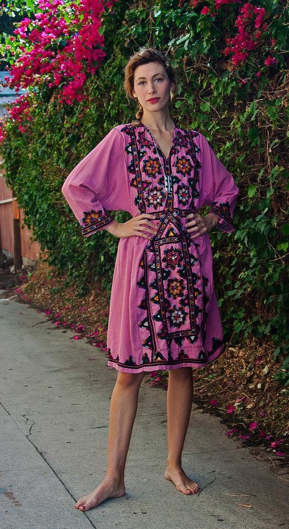 My Pink Afghani Dress by TavinShop on Etsy