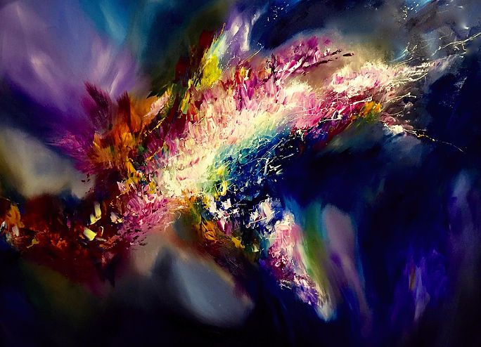 Melissa S McCracken | Synesthetic Artist | 2016.  Paintings coupled with the songs that inspired them.