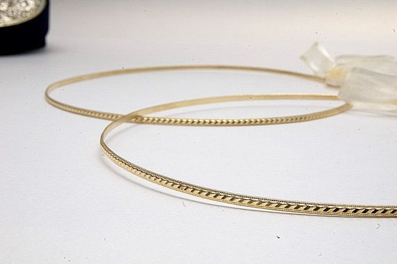 STEFANA Wedding Crowns - Orthodox Stefana - Bridal Crowns SIMPLICITY gold. $90.00, via Etsy.