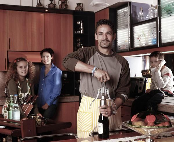 In the 1990s, Roberto Baggio was good... including the kitchen
