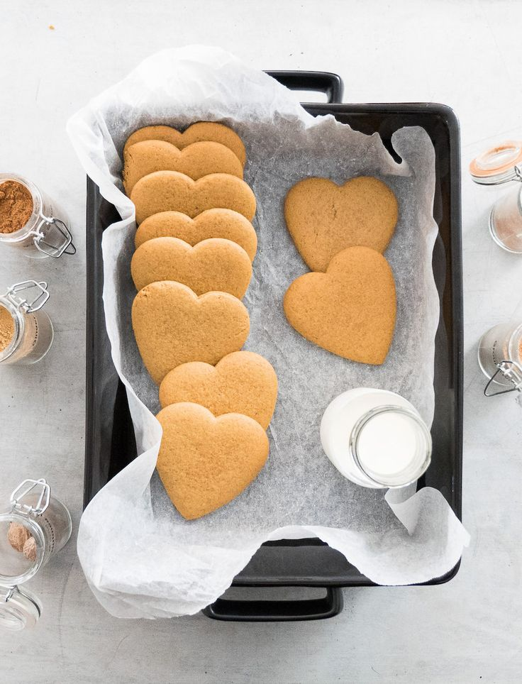 Sugar and spice and all things nice! We love these cookies, not only because they are sweet and delicious but because the dough is such a dream to work with. You'll need to roll the dough out while still warm - once it cools completely it will be too firm. This recipe first appeared in Iss