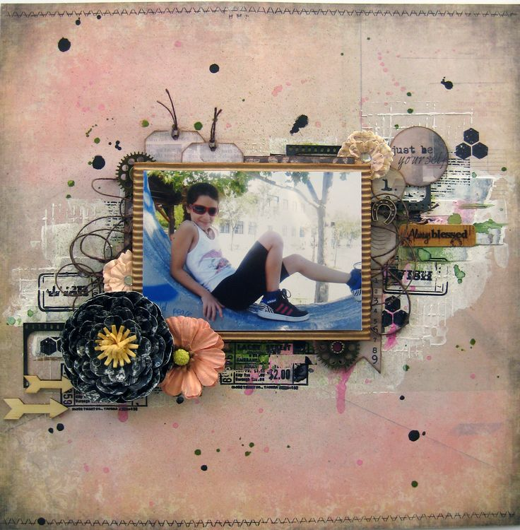 ''Lady Luck'' for January Challenge in Scrapsnpieces Challenge Blog