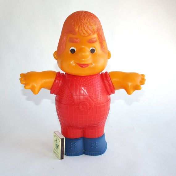 Vintage soviet big plastic toy Carlson a character by VintageSSSR