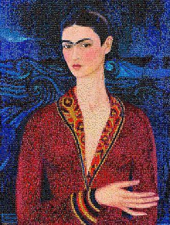 Anna Halm Schudel, Selbstbildnis, 2014 / 2014 © www.lumas.com/ #Lumas - #Frida #FridaKahlo #Selfreflection #Mosaic