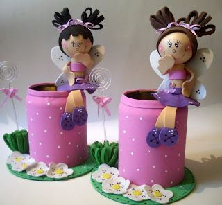 Cute foam doll pen stands