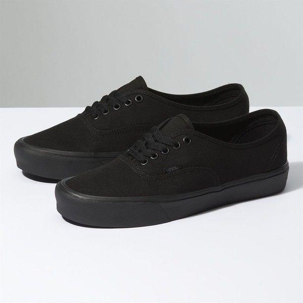 Vans Canvas Authentic Lite ($55) ❤ liked on Polyvore featuring men's fashion, men's shoes, men's sneakers, black, mens black shoes, mens canvas shoes, mens black sneakers, vans mens shoes and mens black canvas shoes