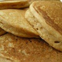 one-bowl whole wheat pancakes | aneelee | Sounds Delish | Pinterest