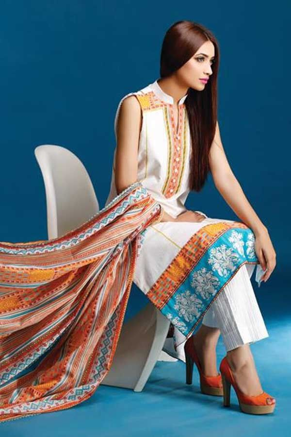 White Cotton Lawn Pakistani Suit with Printed - Z2453PVASPL-KILIM ORANGE-93 Checkout our #latest #pakistani #suits @ http://zohraa.com/salwar-kameez/suits-dresses/pakistani-suits.html#zohraa #onlineshop #womensfashion #womenswear #look #diva #party #shopping #collection #online #beautiful #love #beauty #glam #bollywood #shoppingonline  #styles #stylish #model #fashionista #pretty #women #luxury #celebrity  #lifestyle #best #fashion