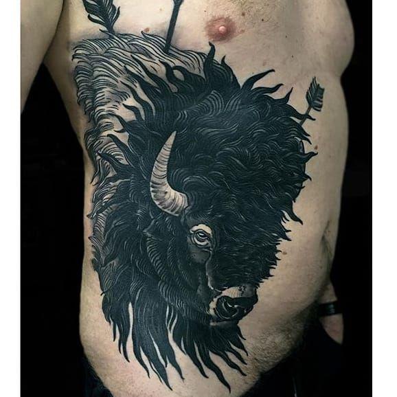 Buffalo tattoo by rakov buffalo buffalotattoo bison for Tattoos of buffaloes