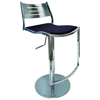 Quintin Shiny Adjustable Height Swivel Stool by Chintaly Imports | ModernCollections