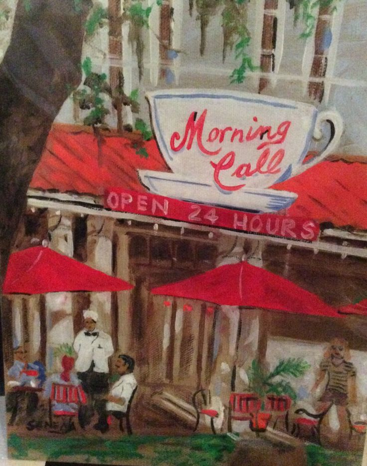 New Orleans Morning Call Coffee Stand art print | New Orleans art | Louisiana art | Kitchen decor | 8x10 or 11x14 in. by SenecaArtistStudio on Etsy