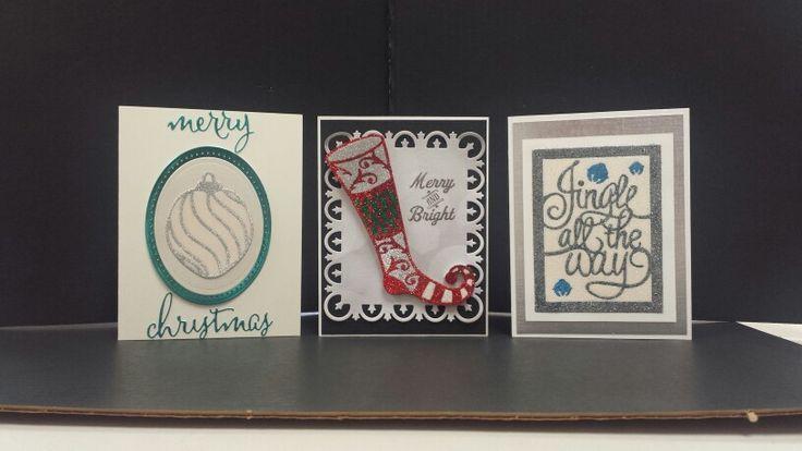 Glitter card class at Treasured Memories Canada