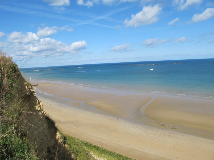 Omaha Beach, France---I was completely and utterly blown away by Normandy, and it's surreal to think of D-Day taking place here. Visited 6/08. Thank you, vets!
