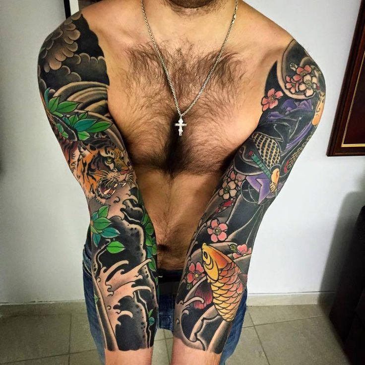 Oriental Sleeve Tattoo - http://giantfreakintattoo.com/oriental-sleeve-tattoo/                                                                                                                                                                                 More