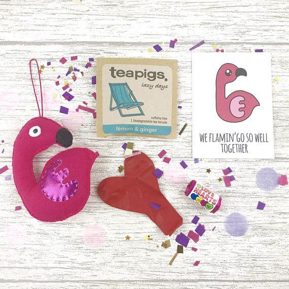 Flamingo toy flamingo plushie funny pun birthday card best