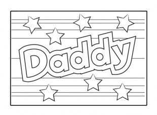 Father's Day card for children to color in! iChild.co.uk