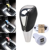 New 1 set  Blue / Red / White / Changeable LED Touch Activated Manual Car Auto Cabeza Gear Shift Knob Shifter Da Engrenagem