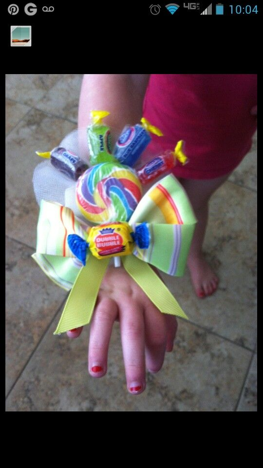 Candy corsage for Winter Candyland dance for Walker Butte! Turned out so cute!!!!