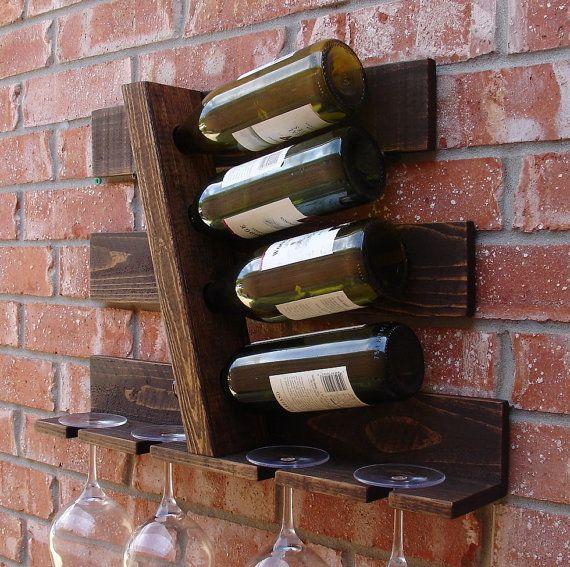 4 paralelo geométrico botellero vino con vidrio 4 ranura