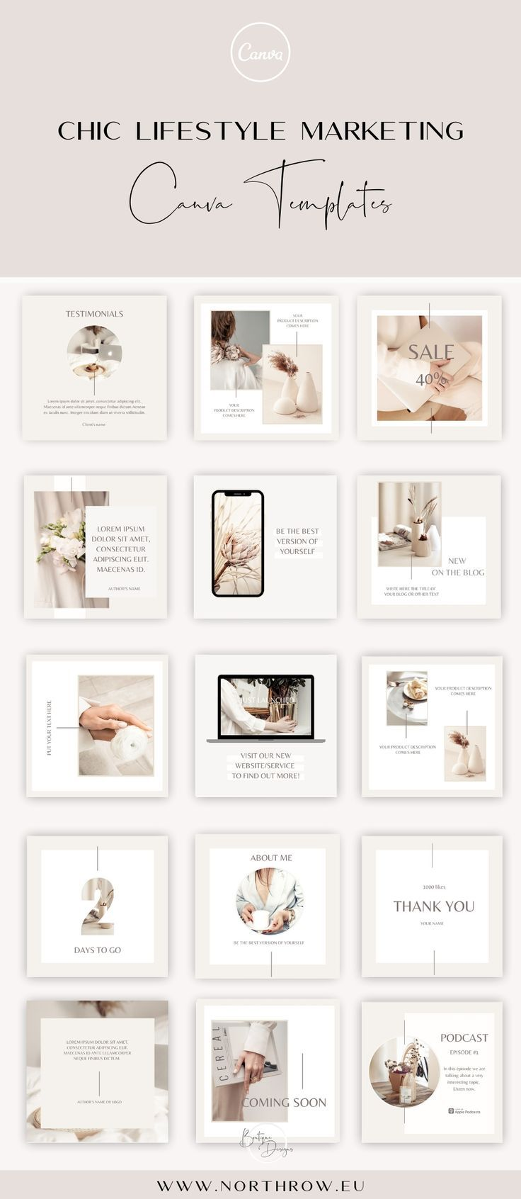 Instagram Puzzle Template For Canva Instagram Template Etsy In 2021 Instagram Template Instagram Layout Instagram Post Template