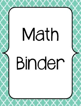 Here's a guided math binder outline with dividers and lesson planning template.