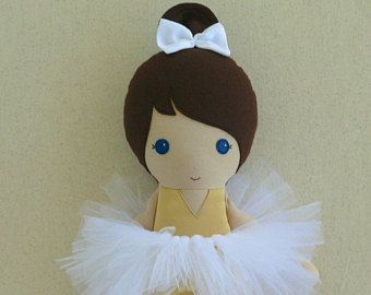 Fabric Doll Rag Doll Blond Blond Haired Girl in Classic Mauve