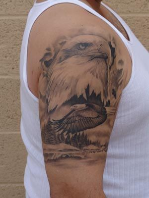 eagleTattoos | Go with the bald eagle tattoos and inspire all to taste the fragrance ...