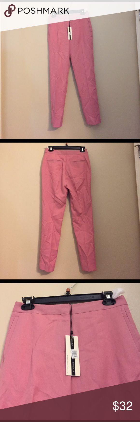 NWT Topshop Trousers NWT Topshop Trousers. Color: Pink. Size: 4. The Trousers just need to be ironed. Feel free to ask any questions. Topshop Pants Trousers
