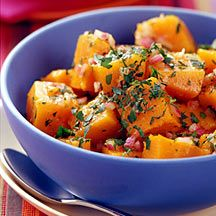 Butternut Squash Salad Recipe with Curry-Apple Dressing - 3 Point Value - LaaLoosh