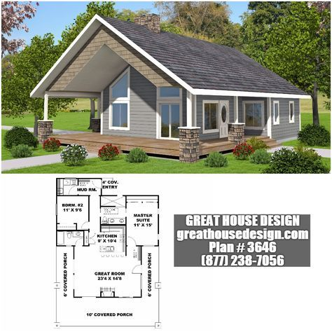 Modest House Plan # 3646 Toll Free: (877) 238 7056