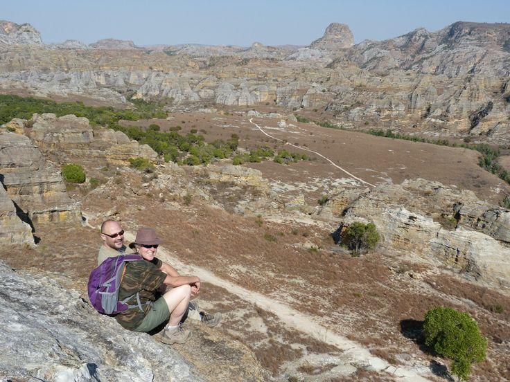 Sarah and Bob enjoying the view at Isalo National Park