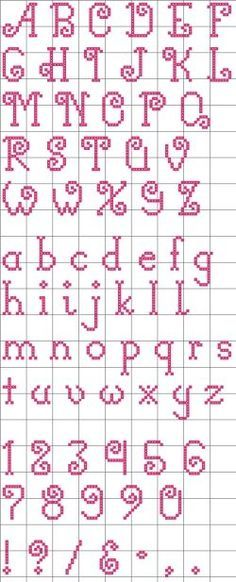 "Free ""Curly-Q"" Alphabet pattern"