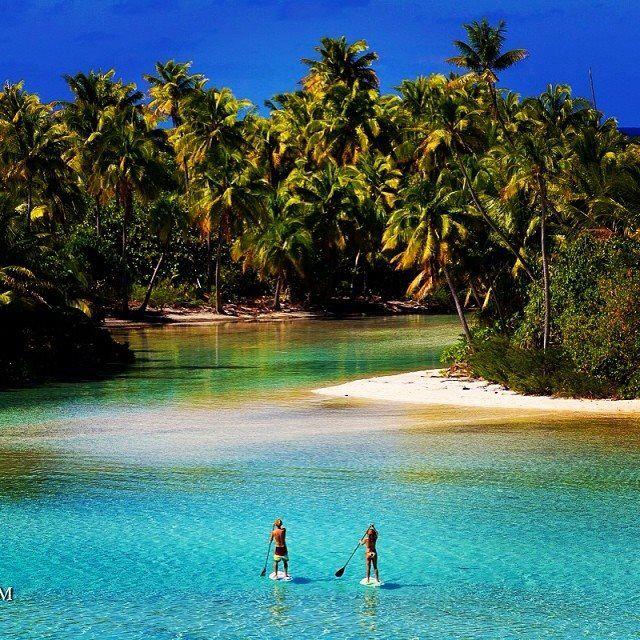 SUP in Tahiti  #sup #paddleboard #standuppaddle